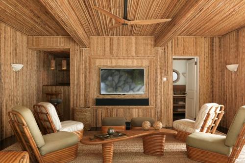 maison de plage en bambou salon en bambou