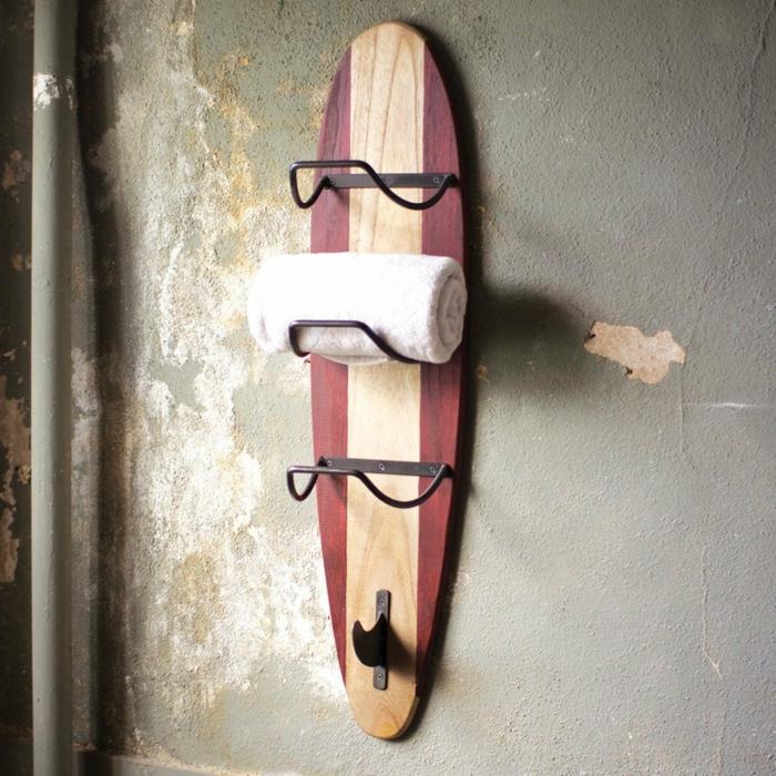 meuble rangement déco planche de surf