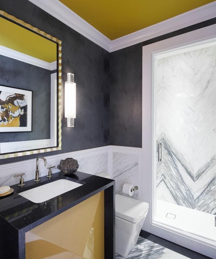 meuble salle de bain en jaune gen-z