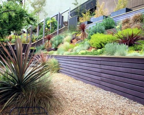 palissade jardin panneaux en bois