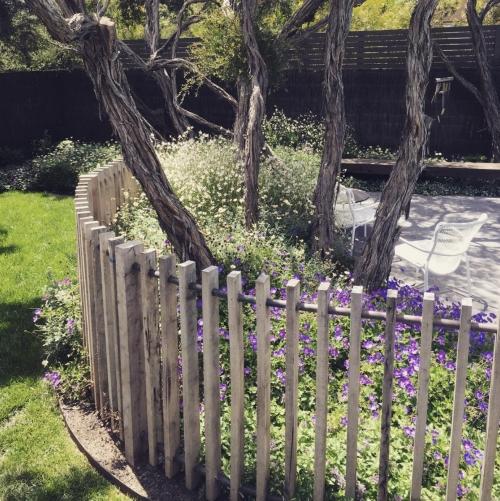 palissade jardin pour clôturer le jardin