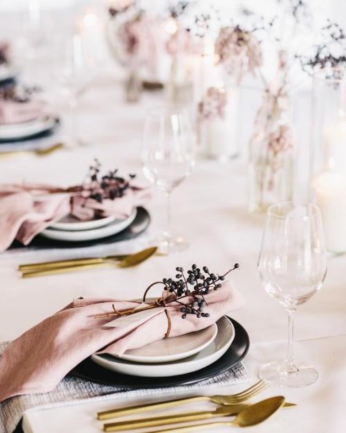 plan de table mariage couvert automnal