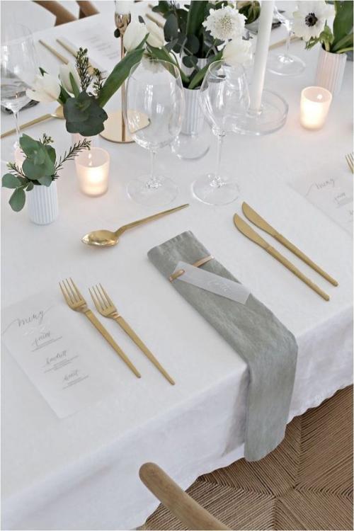 plan de table mariage fleurs et bougies