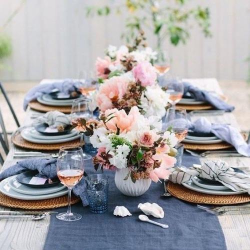 plan de table mariage jolie table en bleu