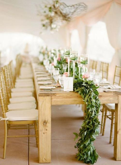 plan de table mariage longue table en bois