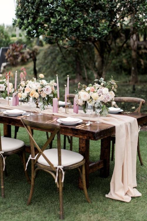 plan de table mariage style vintage