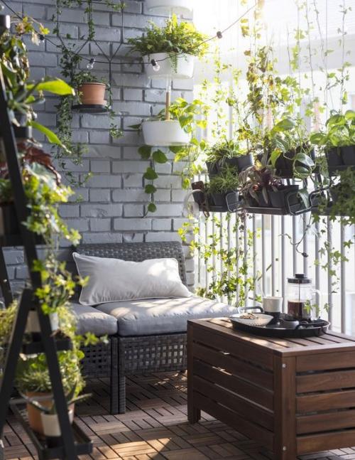 plante en pot terrasse coin repos ombragé