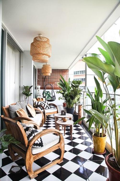 plante en pot terrasse large espace
