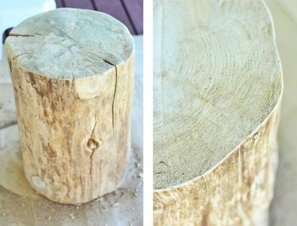 ponçage tronc table basse tronc d'arbre