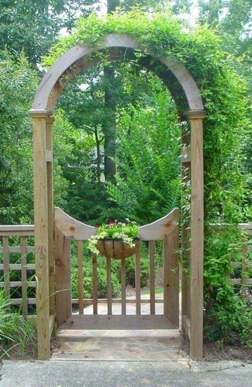 portillon jardin accès au jardin
