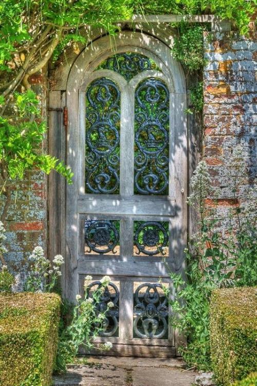 portillon jardin mur-clôture en briques