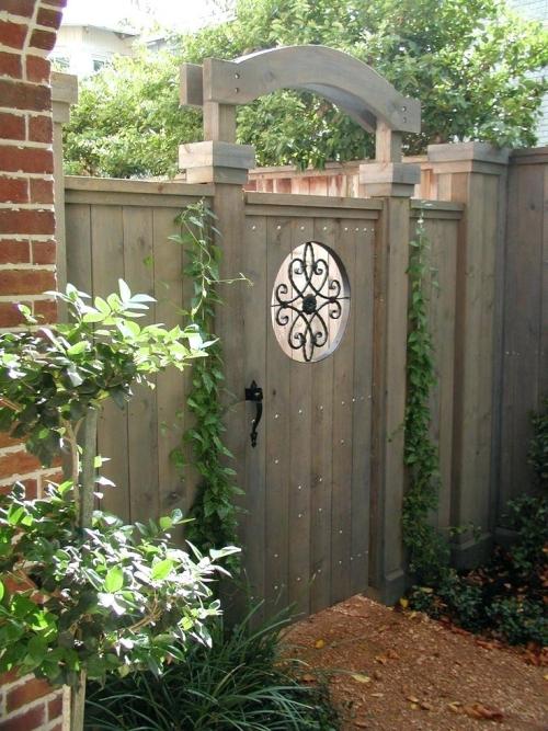 portillon jardin porte solide en bois