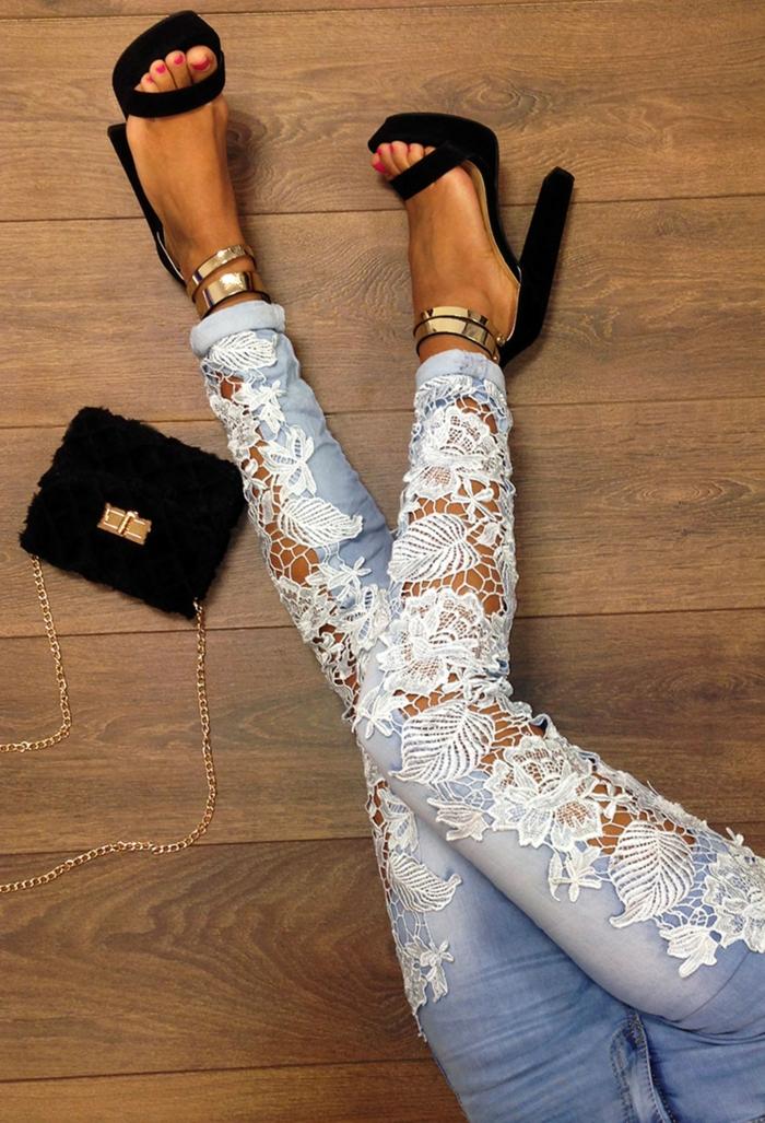 projet diy facile customiser un jean