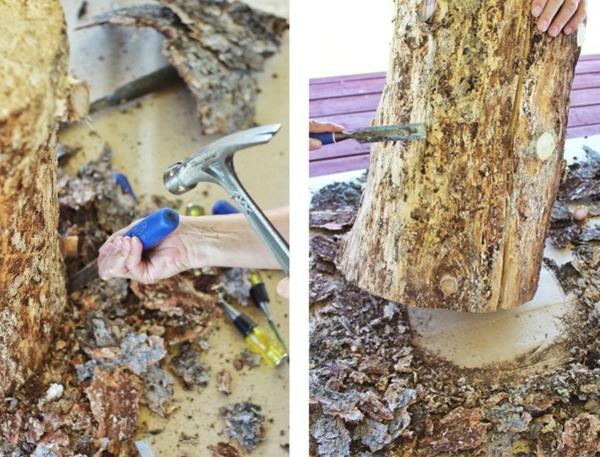 projet diy table basse tronc d'arbre