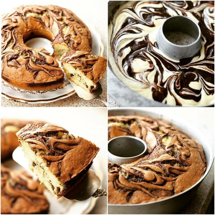 réalisation facile du gâteau marbré