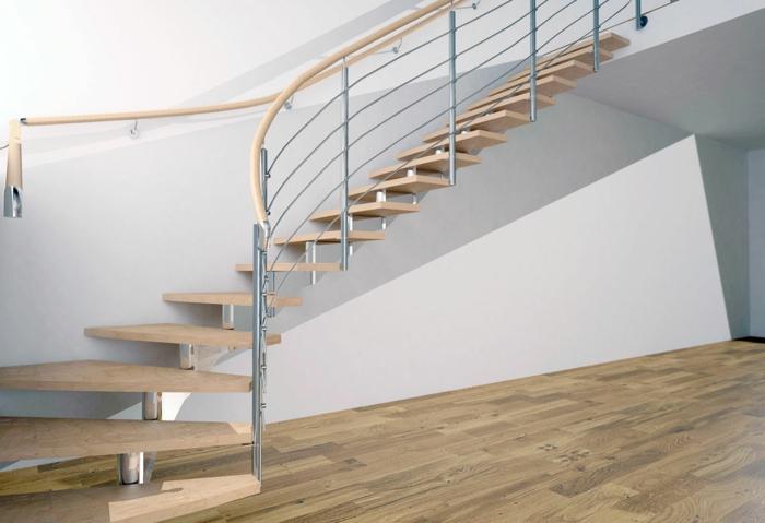 rampe d'escalier en aluminium