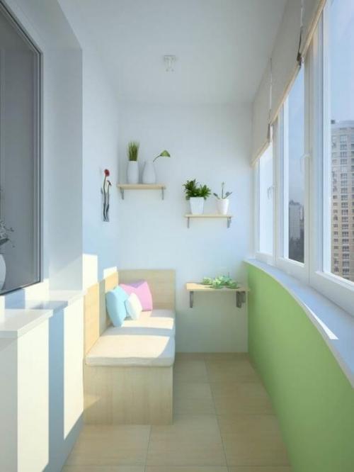 revêtement sol balcon garde-corps légèrement courbé