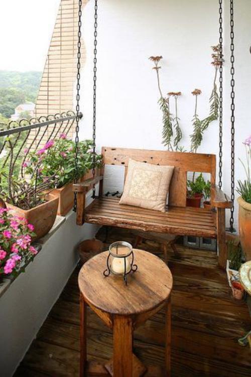 revêtement sol balcon imitation de bois vieilli