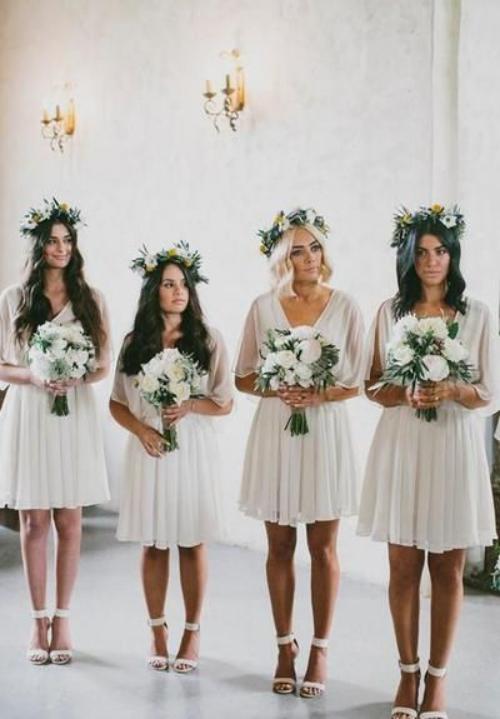 robe invitée mariage automnal blanc privilégié