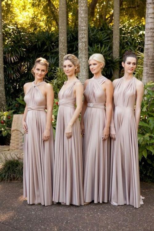 robe invitée mariage automnal couleur sépia