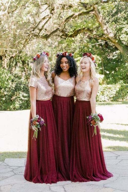 robe invitée mariage automnal jupes et blouses