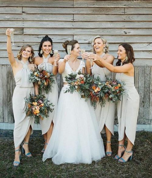 robe invitée mariage automnal mariage champêtre