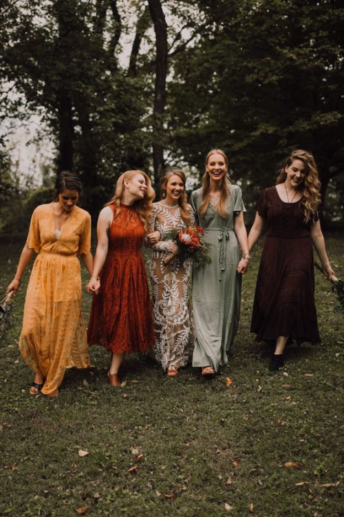 robe invitée mariage automnal robe de mariée en dentelles