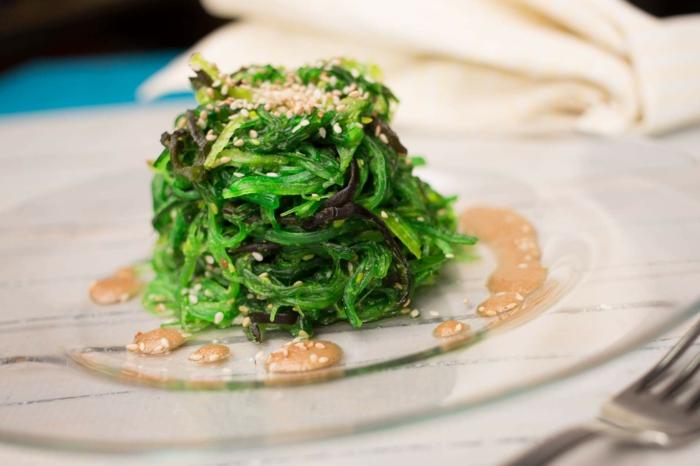 salade au wakamé et dressing