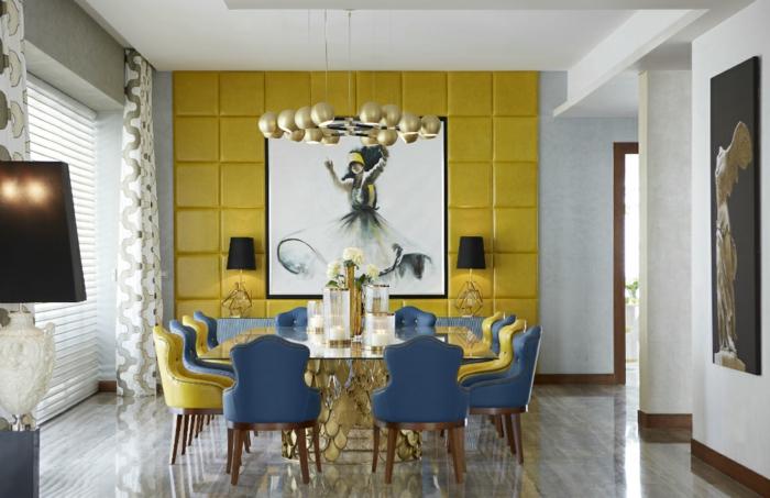 salle à manger déco jaune gen-z
