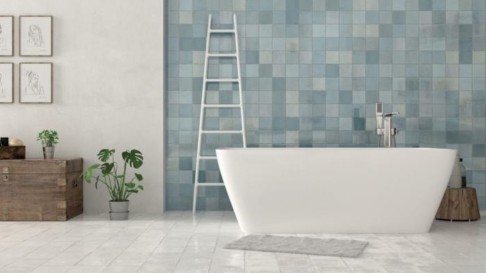 salle de bains moderne en zellige