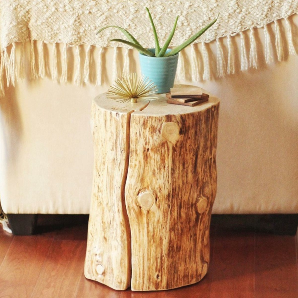 Table Basse Tronc D Arbre Projet Diy Simple A Realiser
