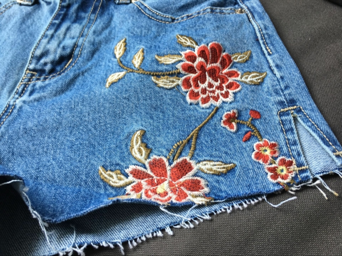 short en jean customiser un jean