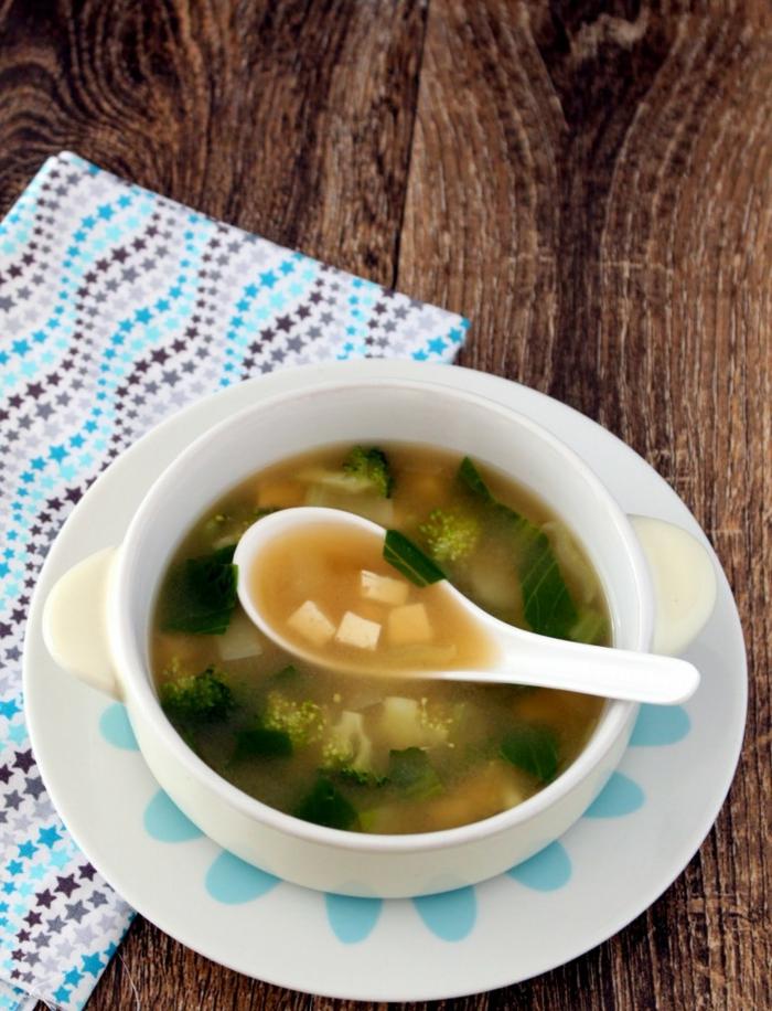 soupe miso végétarienne