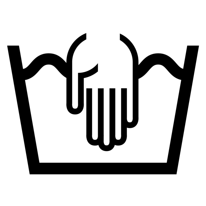 symboles lavage vêtements lavage à main