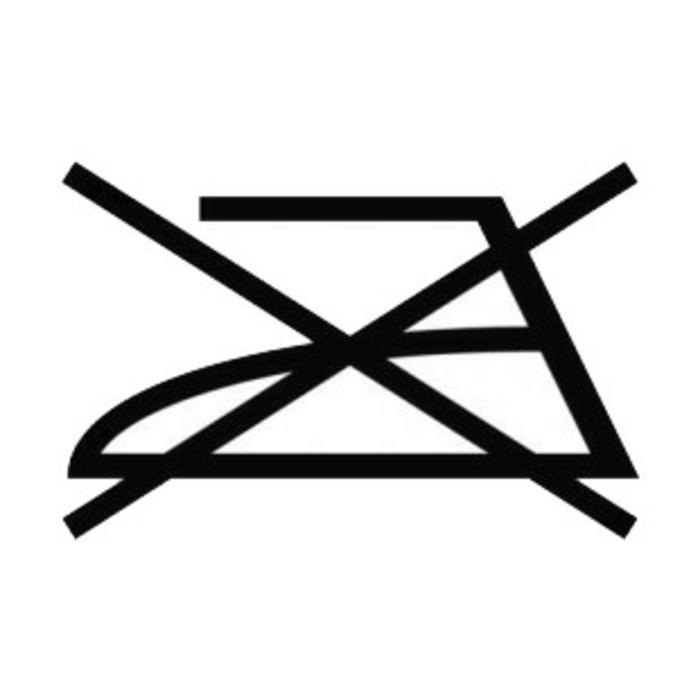 symboles lavage vêtements ne pas repasser
