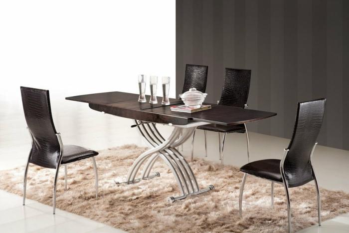 table basse relevable extensible déco salle à manger
