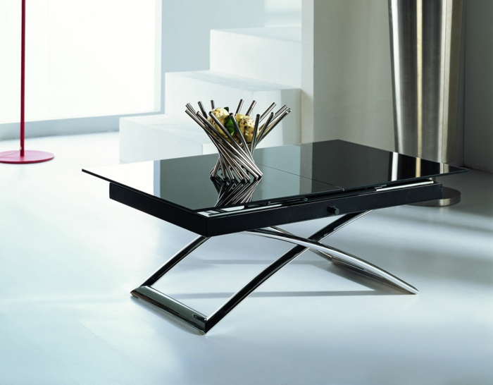 table basse relevable extensible table transformable