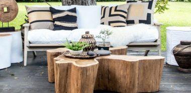 Table basse tronc d\'arbre : projet DIY simple à réaliser