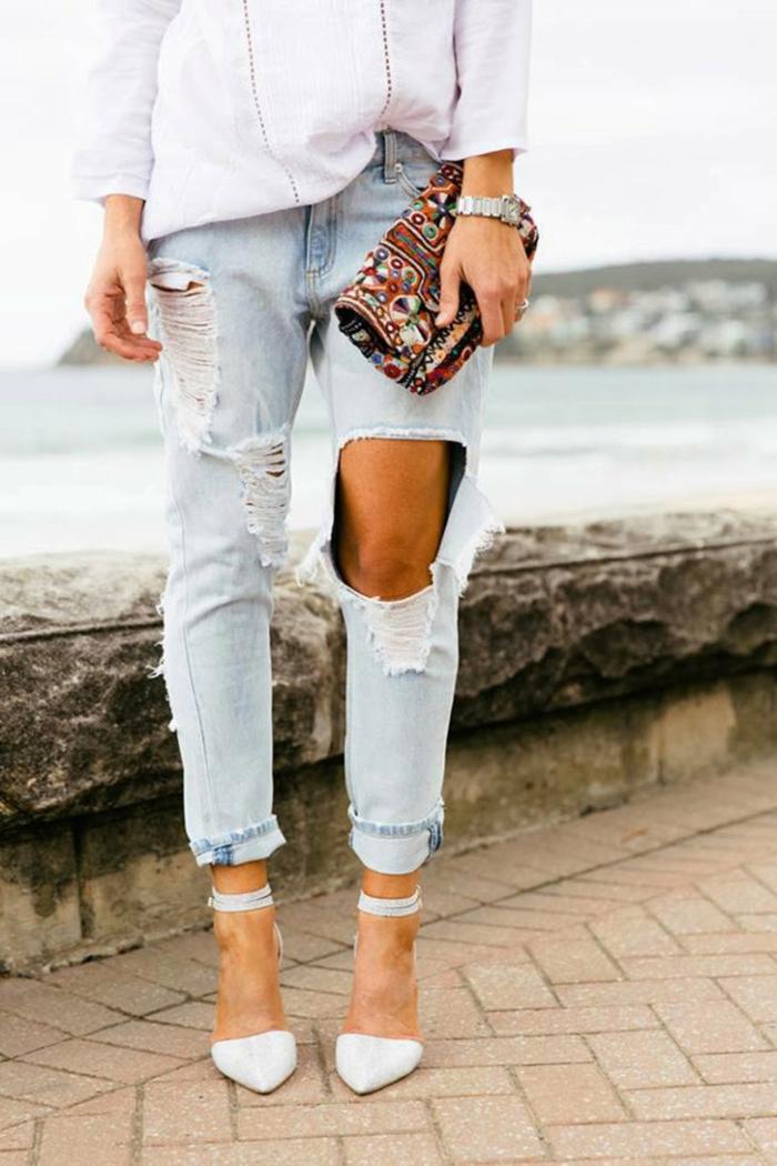 touche moderne idée comment customiser un jean