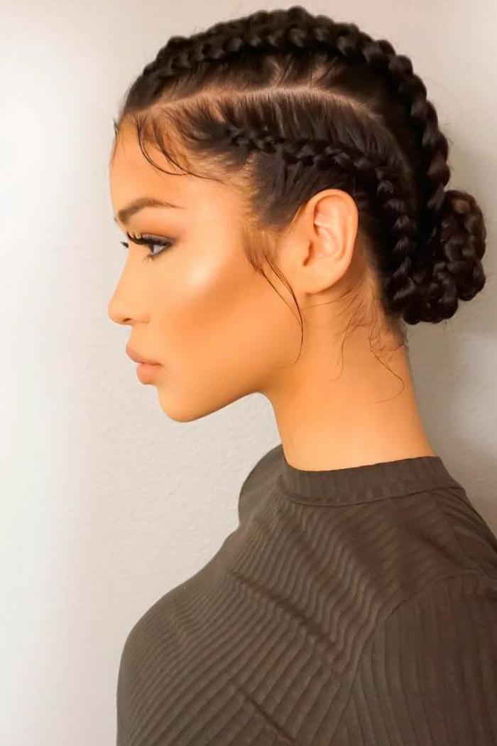 tresse épis de blé coiffure moderne avec tresses