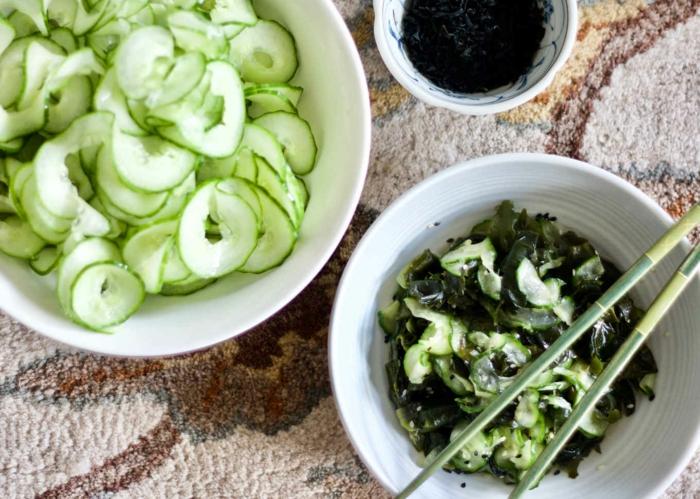 wakamé salade aux concombres