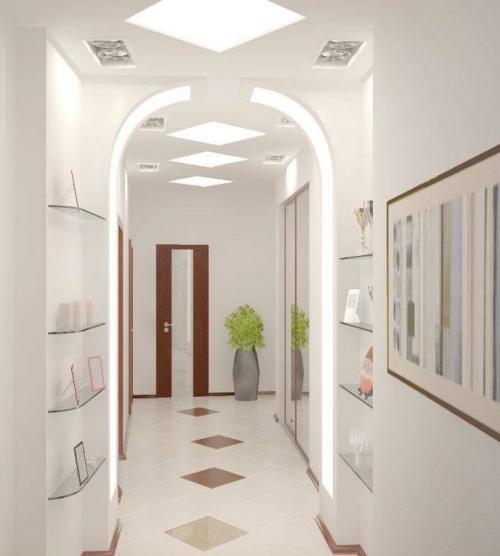 éclairage couloir corridor très clair