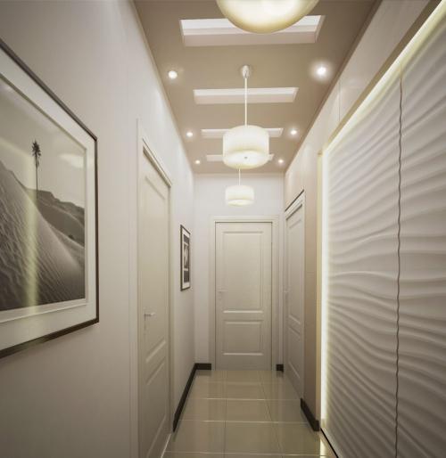 éclairage couloir touches de beige