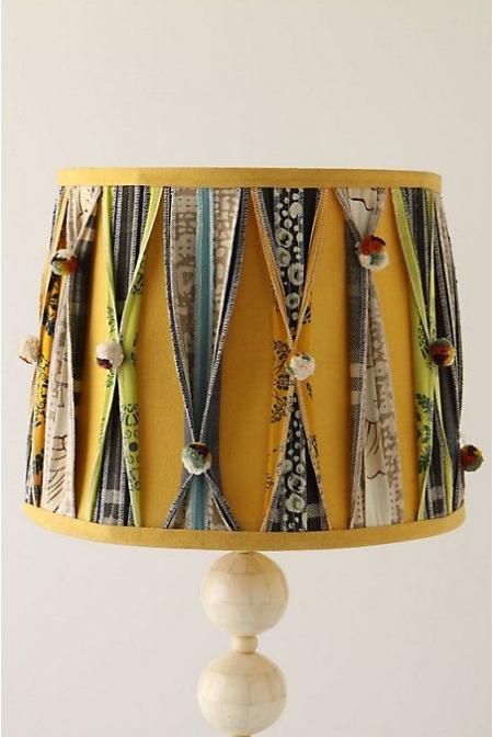 DIY chandelier bandes de tissu
