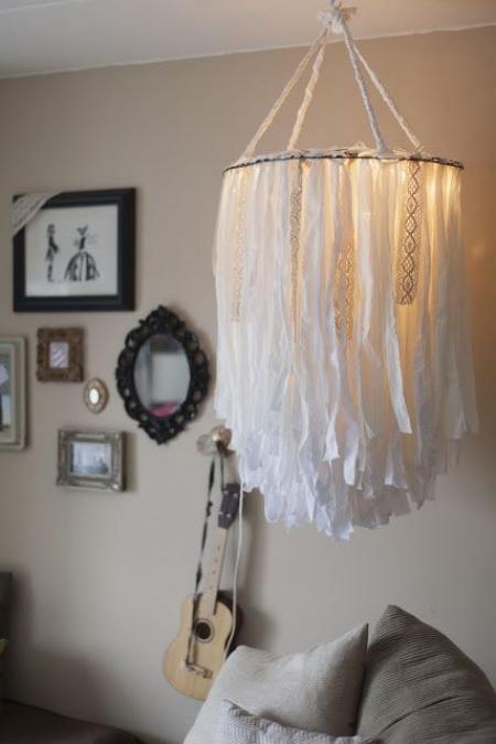 DIY chandelier lumière faible
