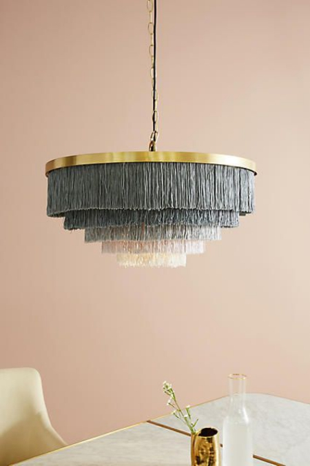 DIY chandelier lustre à cinq niveaux