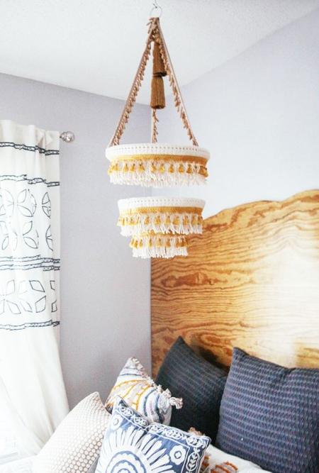 DIY chandelier style rustique