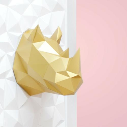 Intégrer le doré figure géométrique