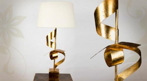Intégrer le doré support de luminaire en or