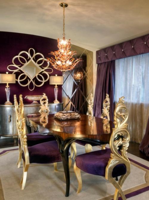Intégrer le doré un salon de luxe